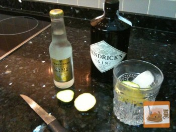 GinTonic Hendricks, pepino fresco y Fever-Tree.