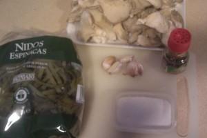 Ingredientes Pasta espinacas con setas