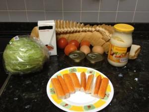 Pastel Vegetal. Ingredientes.