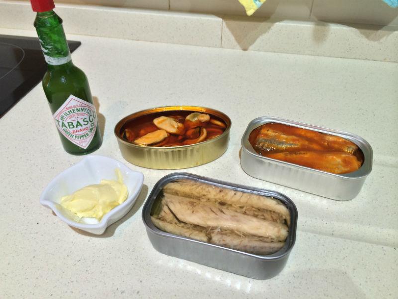 Ingredientes de paté marinero